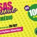 BOLSAS DE ESTUDO PARA ENSINO MÉDIO EM 2019